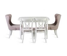 Стол обеденный Вальс-1500 (белая эмаль)