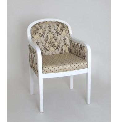 Кресло Миледи-2 (Белый/матовый/тк. Cream 109+110)