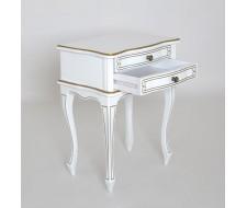 Тумба-31 (2 ящика) белый+золото