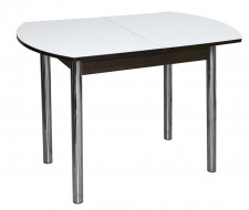 Стол обеденный ЕР-833 (столешница Белые цветы 2553/ ноги Хром)