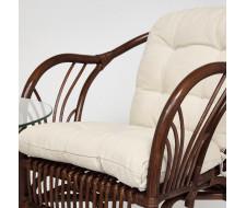 """ТЕРРАСНЫЙ КОМПЛЕКТ """" NEW BOGOTA """" (2 кресла + стол)/с подушками. walnut (грецкий орех)"""