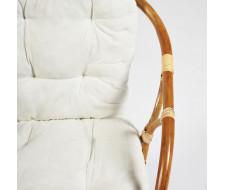 Комплект для отдыха RONDO ECO SKIN (стол круглый (со стеклом)+2 кресла + диван) /с подушками/Natural (натуральный)