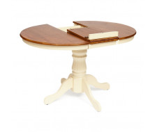 Стол NAVARRESE (mod. E-R36R+12AV NMO-2B) rustic oak+cream (дуб+кремовый)