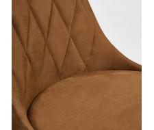 Стул LAVANDA (mod.712) коричневый barkhat 11/черный
