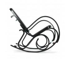 Кресло-качалка mod. AX3002-2 венге, экокожа темно-коричневая