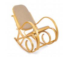 Кресло-качалка mod. AX3002-2 дуб, ткань бежевая 1089-4