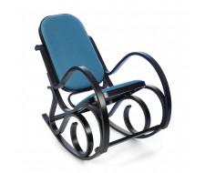 Кресло-качалка mod. AX3002-2 венге, ткань голубая 2022-13
