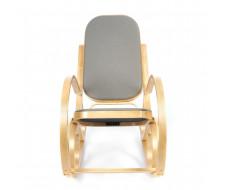 Кресло-качалка mod. AX3002-2 натуральный, ткань светло-серая 2022