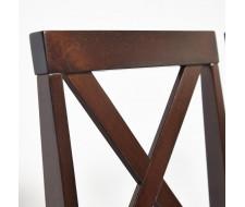 Обеденный комплект эконом Хадсон (стол + 4 стула)/ Hudson cappuccino (темный орех), ткань кор.-зол. (1505-9)
