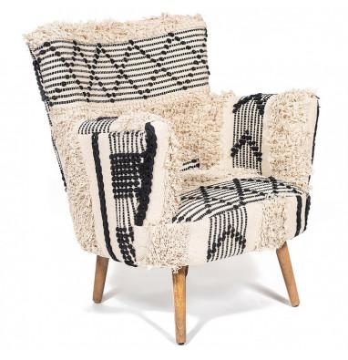 Кресло Secret De Maison «Alba» black / white shaggy