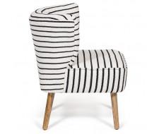 Кресло Secret De Maison «Bolzano» black / white stripes