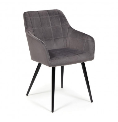 Кресло BEATA (mod. 8266) серый (G-062-40)/черный