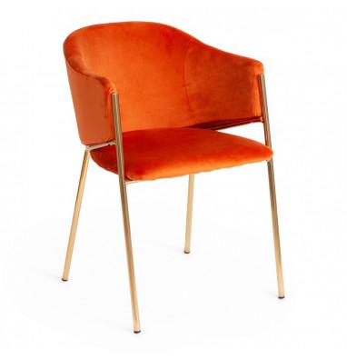 Кресло KRONOS (mod. 8158) рыжий/золотые ножки, G062-24