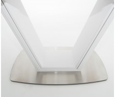 Стол Севилья Белый / Стекло – белое
