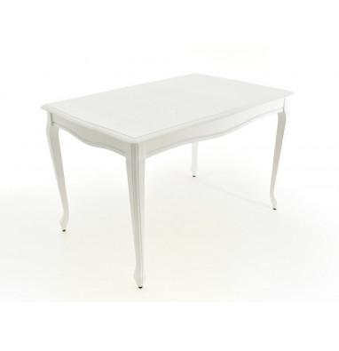 Стол Кабриоль 120 Белая эмаль / Патина серебро