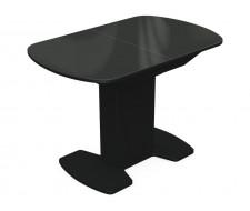 Стол Корсика стекло 80 х 120, Венге /Черный