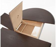 Стол раздвижной Леонардо 1 (D 1000), Комби 6 (Орех темный + Слоновая кость)