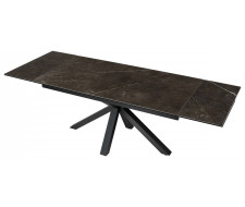 Стол ALTO 160 KL-135 Серо-коричневый мрамор матовый, итальянская керамика/ BLACK