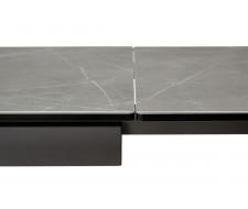 Стол ALTO 160 KL-136 Серый мрамор матовый, итальянская керамика/ GREY1 каркас
