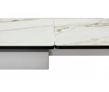 Стол ALTO 160 KL-188 Контрастный мрамор матовый, итальянская керамика/ белый каркас
