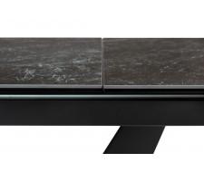 Стол ACUTO2 170 BLACK MARBLE Черный мрамор матовый, керамика/ черный каркас