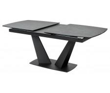 Стол ACUTO2 170 DARK CEMENT Тёмно-серый мрамор матовый, керамика/ черный каркас