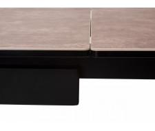 Стол ALEZIO 160 HYDRA MOKA TL-52 испанская керамика/ черный каркас