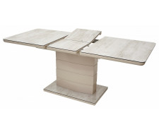 Стол ALTA 120 BEIGE/ CAPPUCINO глазурованное стекло