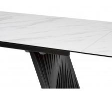 Стол IVAR 180 MARBLES KL-99 Белый мрамор, итальянская керамика