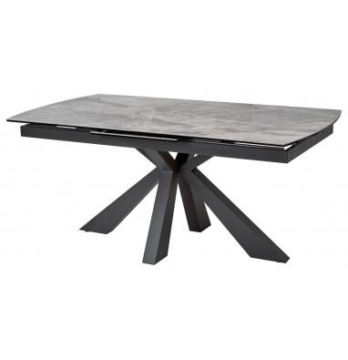 Стол ROVIGO 170 ITALIAN DARK GREY Серый мрамор глянцевый, керамика/ GREY1 каркас