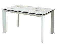 Стол CREMONA 160 KL-188 Контрастный мрамор / белый каркас