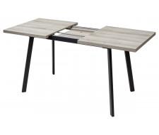 Стол ФИН 120 Дуб Шерман серый/ черный каркас