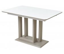 Стол Тетрис 120 Белый, стекло / Латте