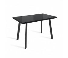 Стол ФИН 120 Черный, стекло/ Черный каркас