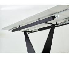 Стол Ниагара 160 Белый мрамор, стекло / черный каркас