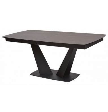 Стол ACUTO 180 TL-59 BLAZE DARK Базальт, испанская керамика/ черный каркас