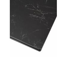 Стол ALTO 160 NERO KL-116 Черный мрамор матовый, итальянская керамика/ черный каркас