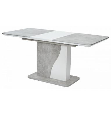 Стол SIRIUS Бетон/ Белый 120