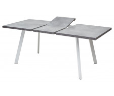 Стол BRICK M 120 Бетон Портленд/ Белый
