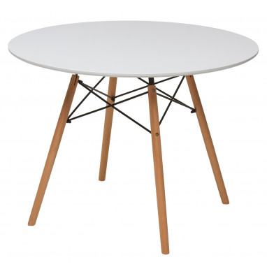 Стол DAISY D80 белый/массив бука