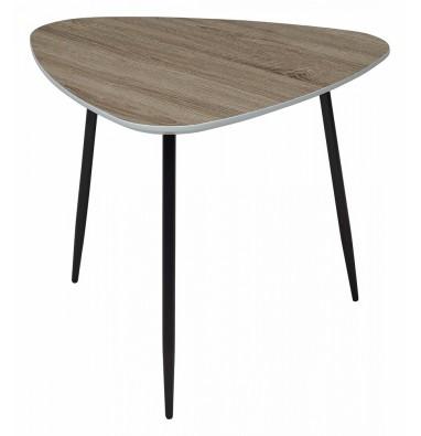 Журнальный столик WOOD62S Дуб серо-коричневый винтажный