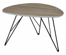 Журнальный столик WOOD84 дуб серо-коричневый винтажный