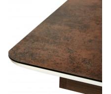 "Стол RADCLIFFE( Mod. EDT-VG002) коричневый, стекло ""burning stone"" 140"