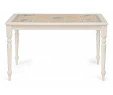 Стол с плиткой CT 3349 butter white