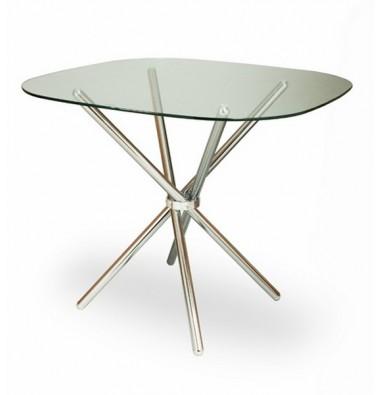Стол DS-6045 (хром, стекло)