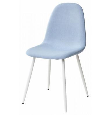 Стул CASSIOPEIA G064-38 серо-голубая ткань/ белый каркас