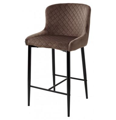 Полубарный стул ARTEMIS BLUVEL-38 LATTE (H=65cm)