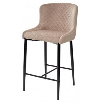 Полубарный стул ARTEMIS бежевый, велюр G108-74 (H=65cm)