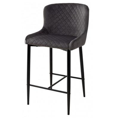 Полубарный стул ARTEMIS графит, велюр G108-92 (H=65cm)