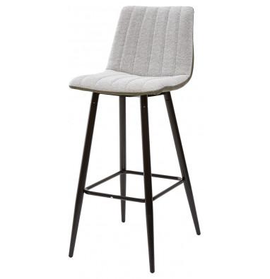Барный стул DERRY светло-серый меланж FC-01/ экокожа хаки RU-04